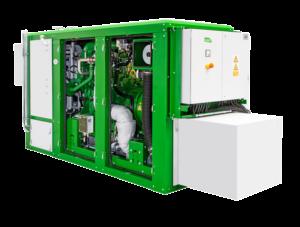CHP-laite on loistava lisä biokaasulaitoksen kylkeen, sillä se takaa luotettavan lämmön ja sähkön tuotannon myös katkosten aikaan.