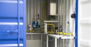 Biovoiman kehittämä verkkoliitoskontti mahdollistaa biometaanin syötön maakaasuverkkoon.