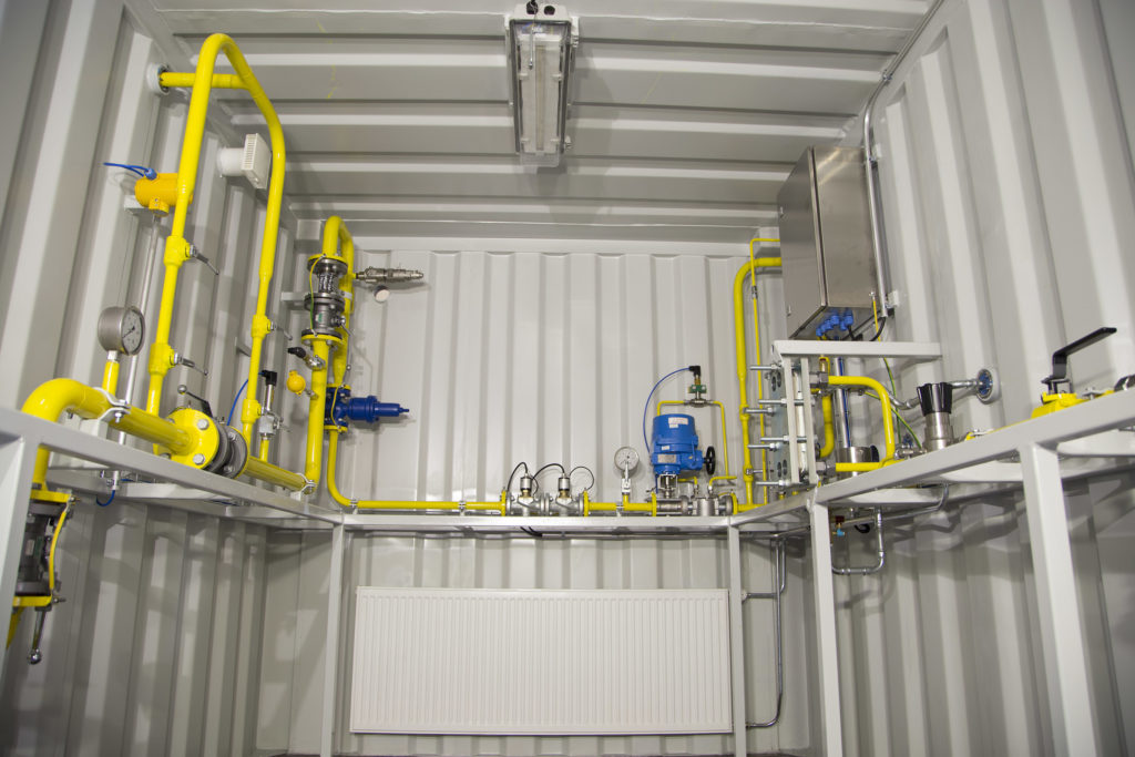 Gas grid connection unit is a standardized factory-made solution.