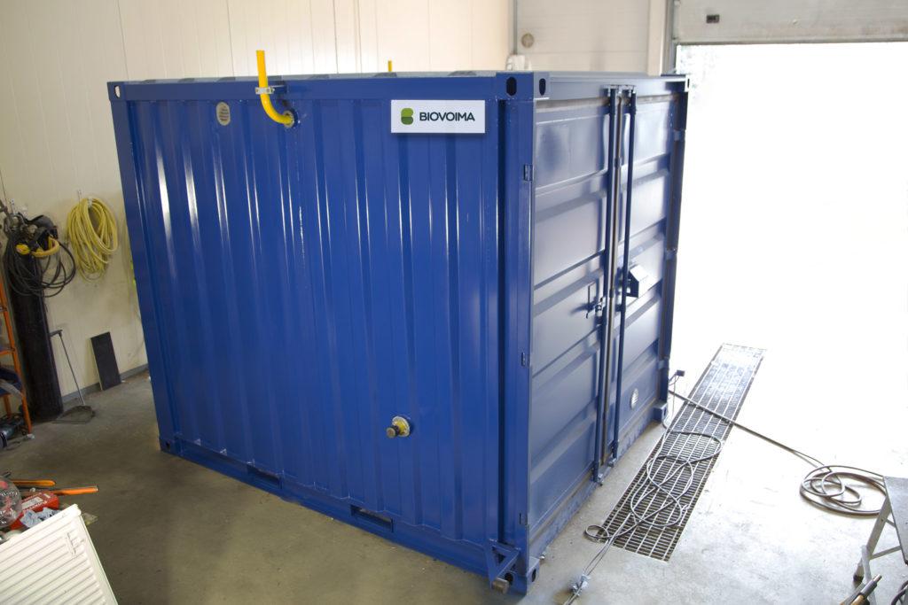 Biovoima's gas grid connection unit is a compact solution.