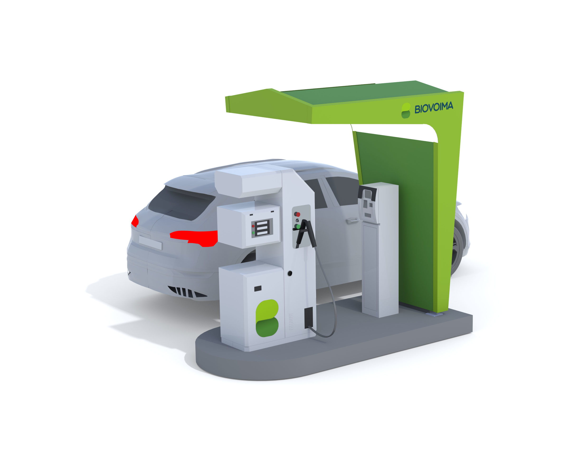 BioCurve gas filling station of the BioPark concept developed by Biovoima.