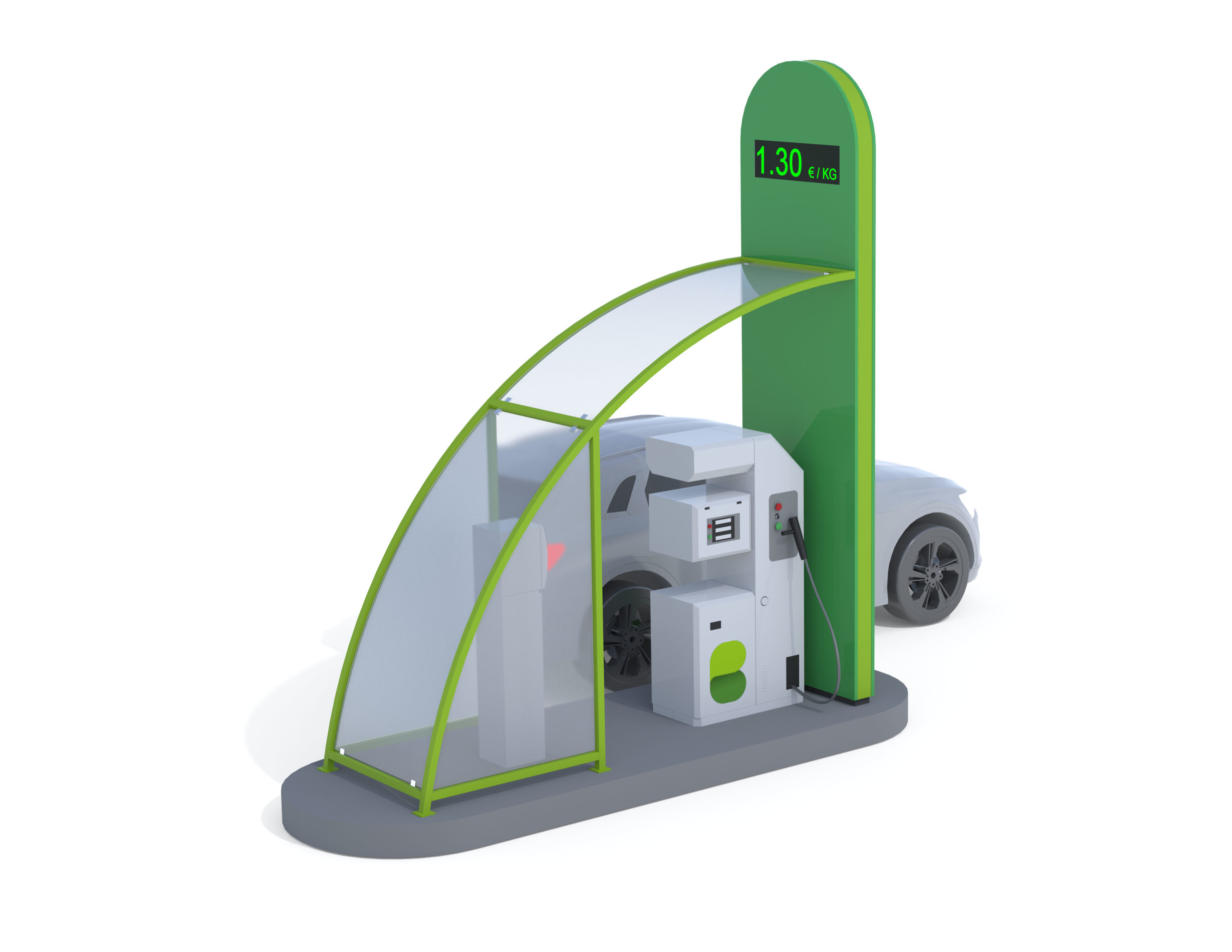 BioWave gas filling station of the BioPark concept developed by Biovoima.
