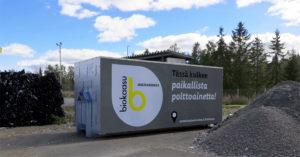 Suomen Biovoima toimitti Mustankorkea Oy:lle kaksi uutta kaasunsiirtokonttia.